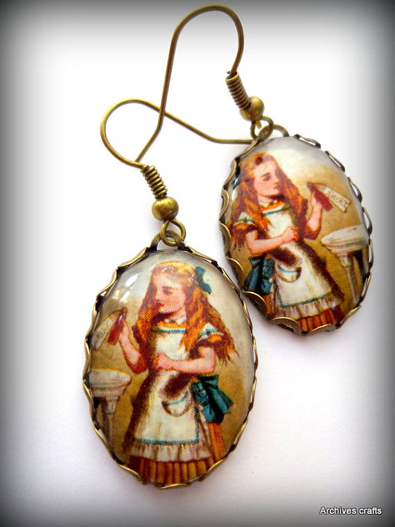 Alice in Wonderland earrings