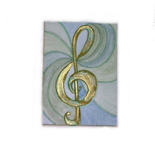ACEO ~ Music makes the world go round