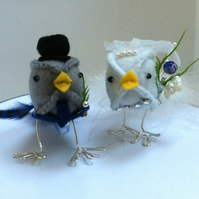 Mr & Mrs Dickie Bird Toppers