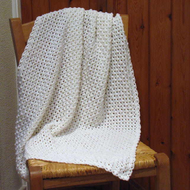 Crochet Baby Blanket Patterns 4 Ply : Crochet Baby Cashmere Merino Silk 4 ply Shawl o... - Folksy