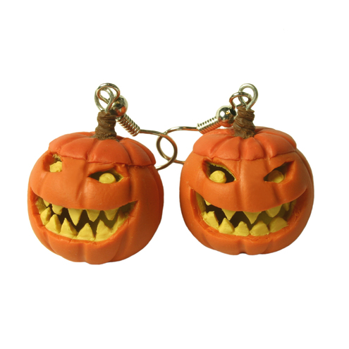 Hollow Pumpkin earrings, halloween