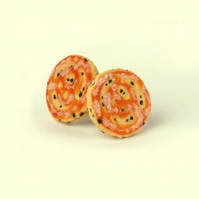 Welsh cake Stud earrings