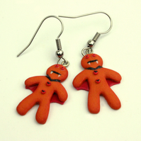 Vampire gingerbread earrings