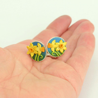 Daffodil Cuff links, round