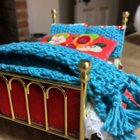 Handmade Bedding Bale for double bed -  1:12th dolls house scale.  UK Free P&P