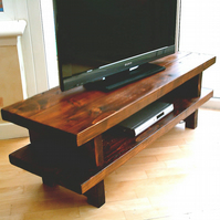 New Hand Made Rustic Widescreen TV Unit in Thick Solid Wood