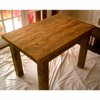 New Hand Made Rustic Plank Dining Table