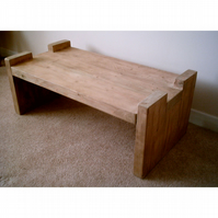 New Hand Made Slab Leg Rustic Coffee Table