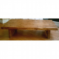 Large Hand Made Rustic Coffee Table - Low Design
