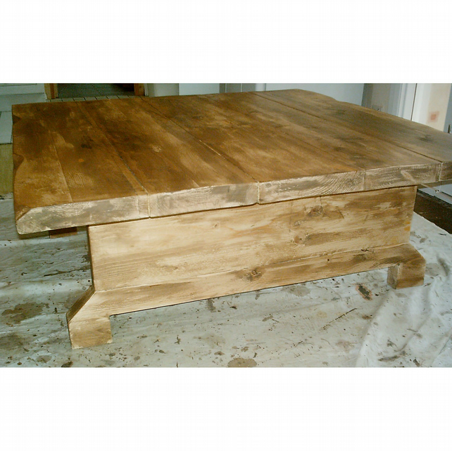 New Hand Made Extra Large Square Rustic Coffee Table