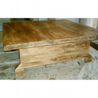 Hand made rustic square coffee table