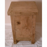 New Hand Made Rustic Solid Wood Bedside Cabinet