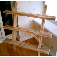 New hand made rustic shelving rack