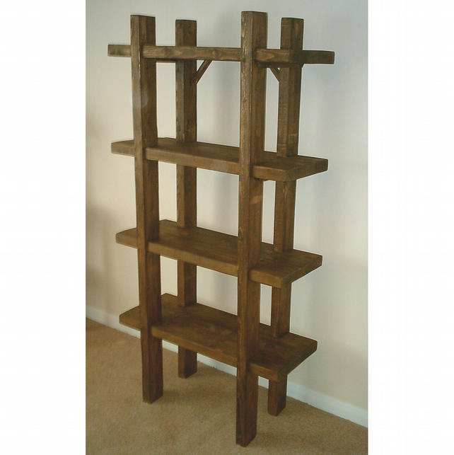 large hand made open ended rustic shelving unit folksy