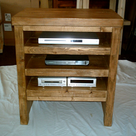New Hand Made Rustic Hi Fi Unit in Thick Solid Wood