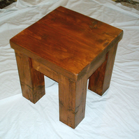 New Hand Made Rustic Solid Wood Stool or Side table