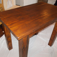 Hand made rustic chunky breakfast bar table