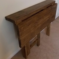 Rustic fold down breakfast bar - space saving