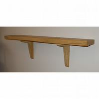 Handmade chunky rustic shelves - Solid wood in light oak finish