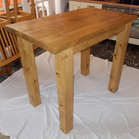 Rustic, chunky hand made breakfast bar table