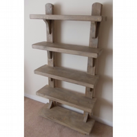 Large Handmade Rustic Shelving Unit - Stained in medium jacobean oak