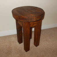 New Hand Made Rustic Solid Wooden Stool