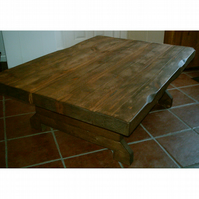 New 3 Inch Thick Large Chunky Rustic Coffee Table