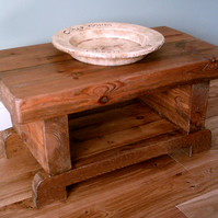 Rustic coffee table - 3 inch thick top