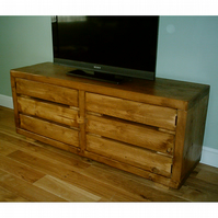 Brand New Hand Made Rustic Widescreen TV Cabinet
