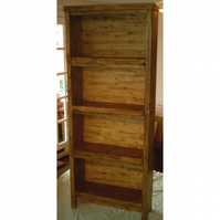 Tall hand made chunky rustic bookcase