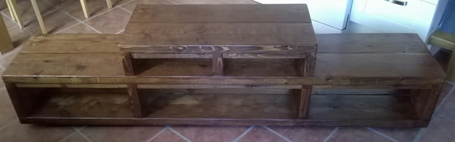 Very large rustic tv unit, 200cm in length
