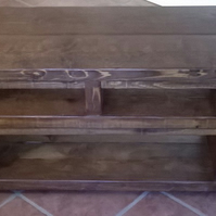New Large 200cm Rustic Widescreen TV Unit in Heavy Solid Wood