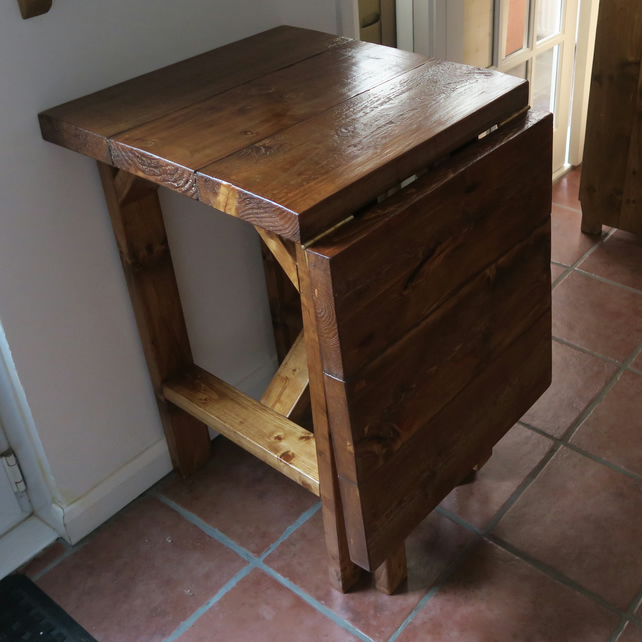 Rustic Folding Breakfast Bar Table Folksy