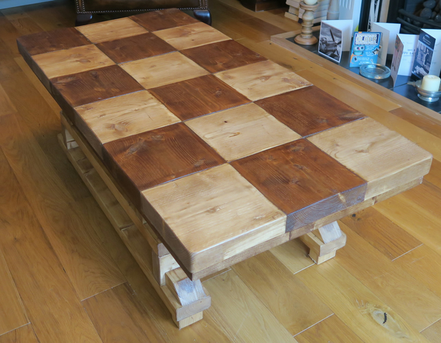 Hand Made Contemporary Rustic Coffee Table