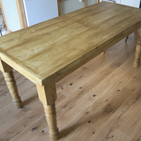 Hand made farmhouse style kitchen table