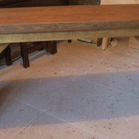 New hand made chunky rustic consule table, hall table