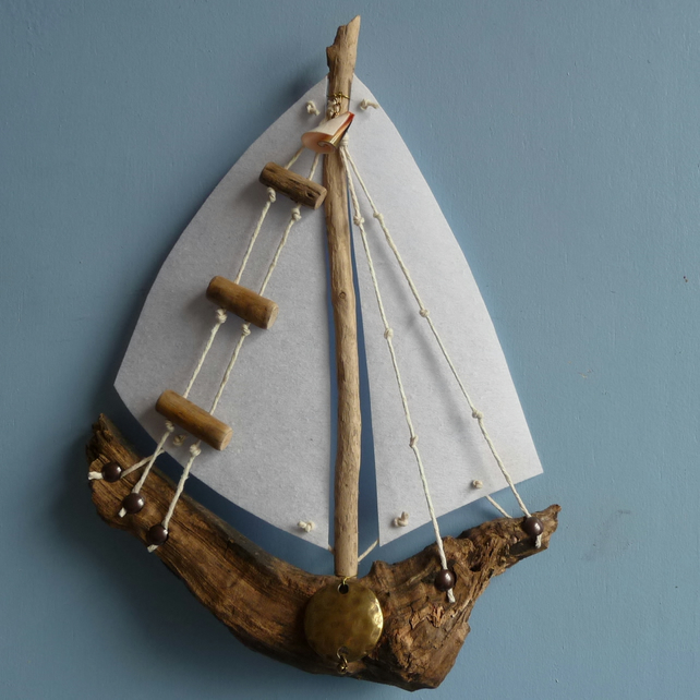 Driftwood Boat - Medium Wall hanging