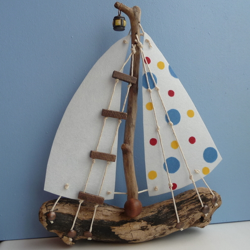 Small Driftwood Boat