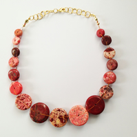 Magnesite Neacklace-Red