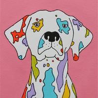 Coloured Dalmatian Print