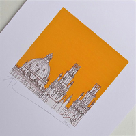 Oxford Rooftops Print