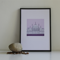 Brighton Royal Pavilion In Purple