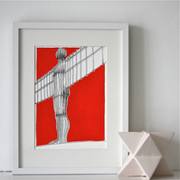 Angel Of The North Fine Art Print