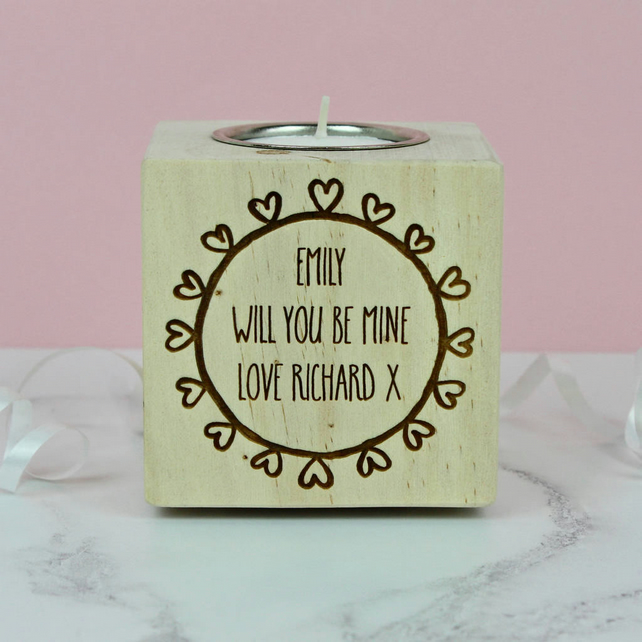 Engagement Proposal Candle Holder