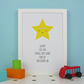 Little Star Personalised Baby Birth Print