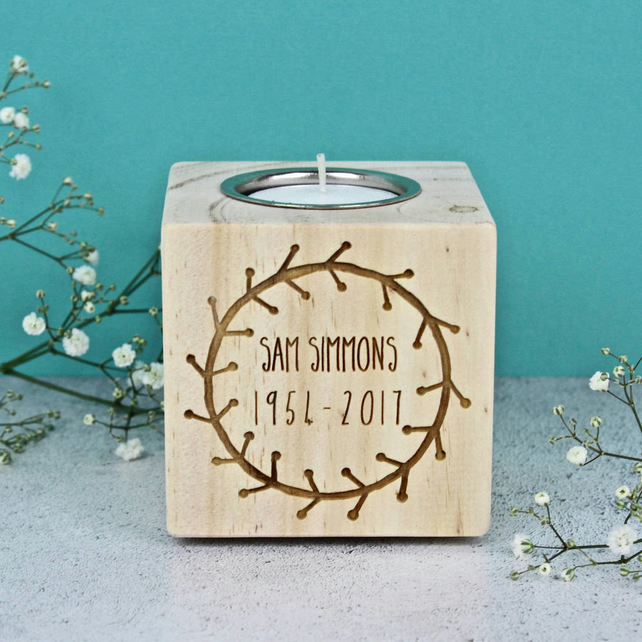 Personalised Memorial Candle Holder