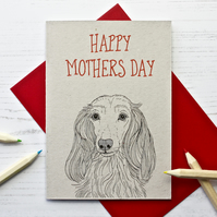 Long Haired Dachshund Mothers Day Card