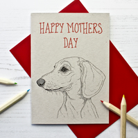 Dachshund Mothers Day Card