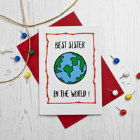 Best Sister In The World Card