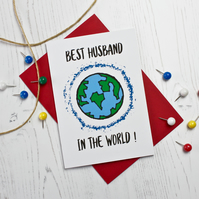 Best Husband In The World Card